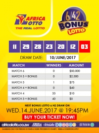 Bonus Lotto Results