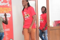 Above Jah Prayzah visits the Africalotto Long Cheng branch